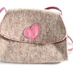 Trachtentasche - grau mit rosa Herz